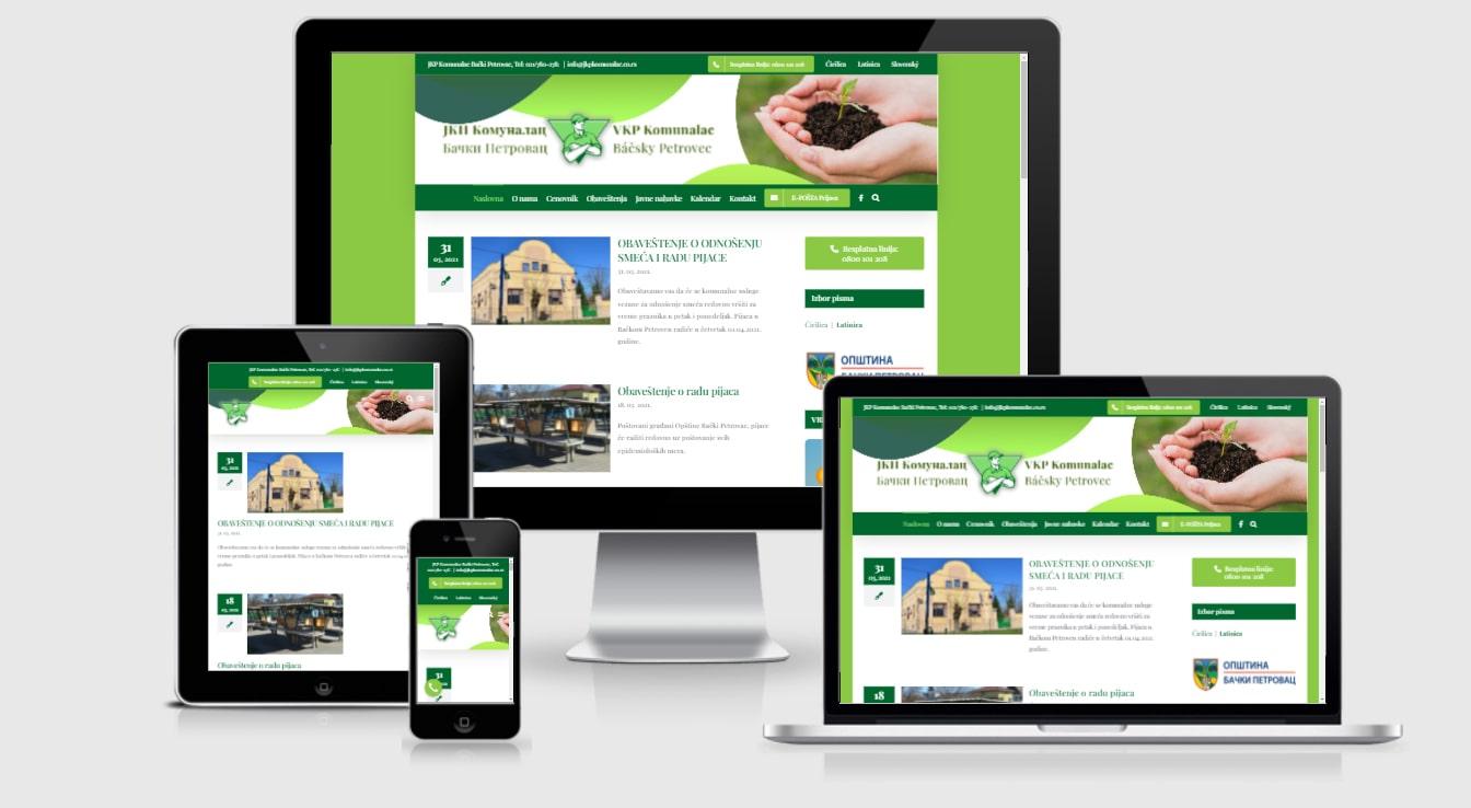 Tipping Point izrada sajtova referenca JKP Komunalac Bački Petrovac